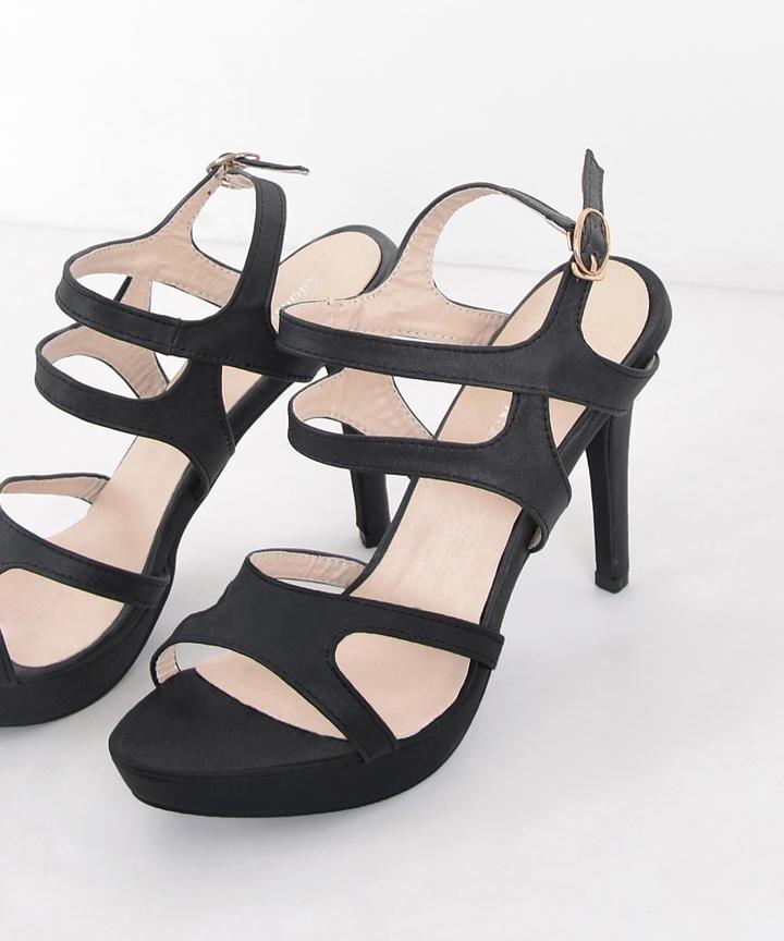 Chancery Strap Heels - Black