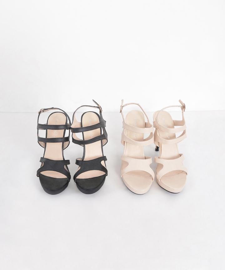 Chancery Strap Heels - Cream