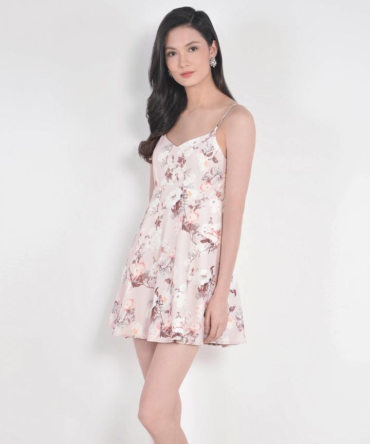 Renaissance Babydoll Dress - Pale Pink