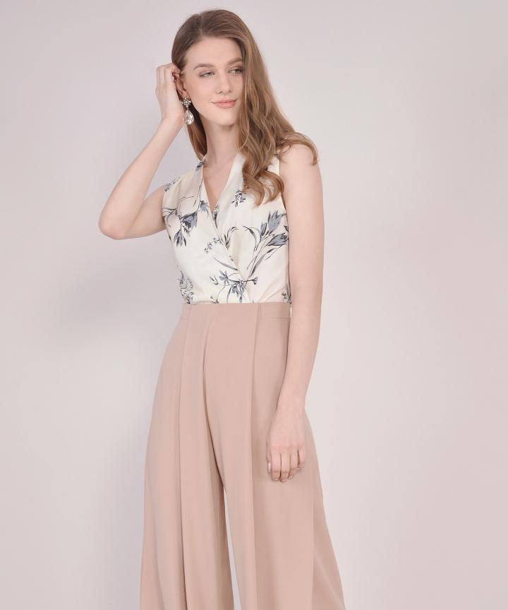Tjin Floral Blouse - Cream