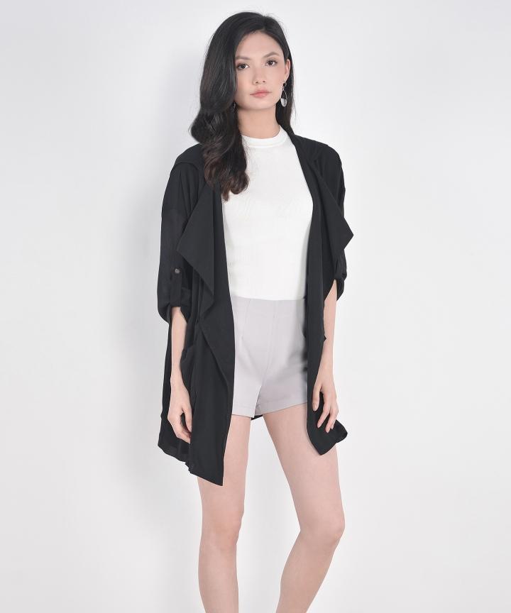 Milan Oversized Outerwear - Black