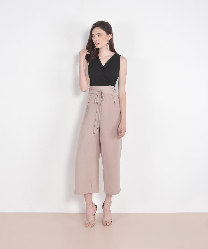 Sachi High Waist Trousers - Pale Mauve