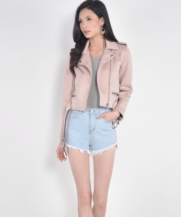 Glade Moto Jacket - Pale Pink (Restock)