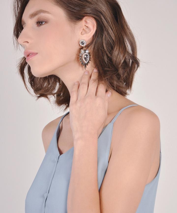 Comet Embellished Earrings