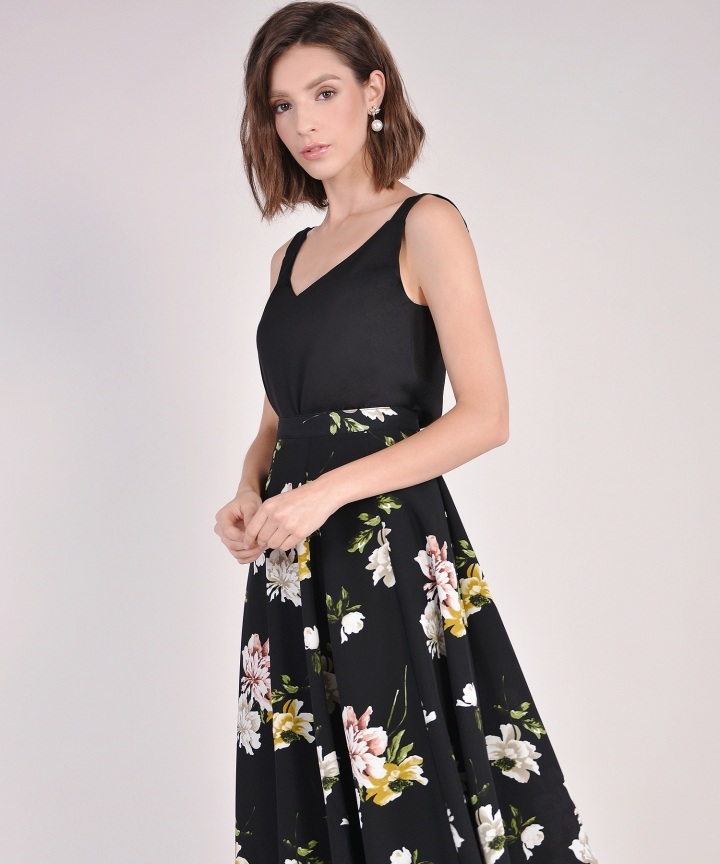 Florentine Midi Skirt - Black