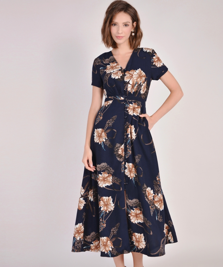 Lumiere Blossom Maxi - Midnight Blue (Restock)