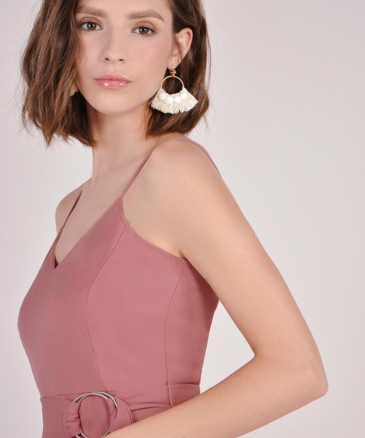 Tassel Fringe Earrings - Cream