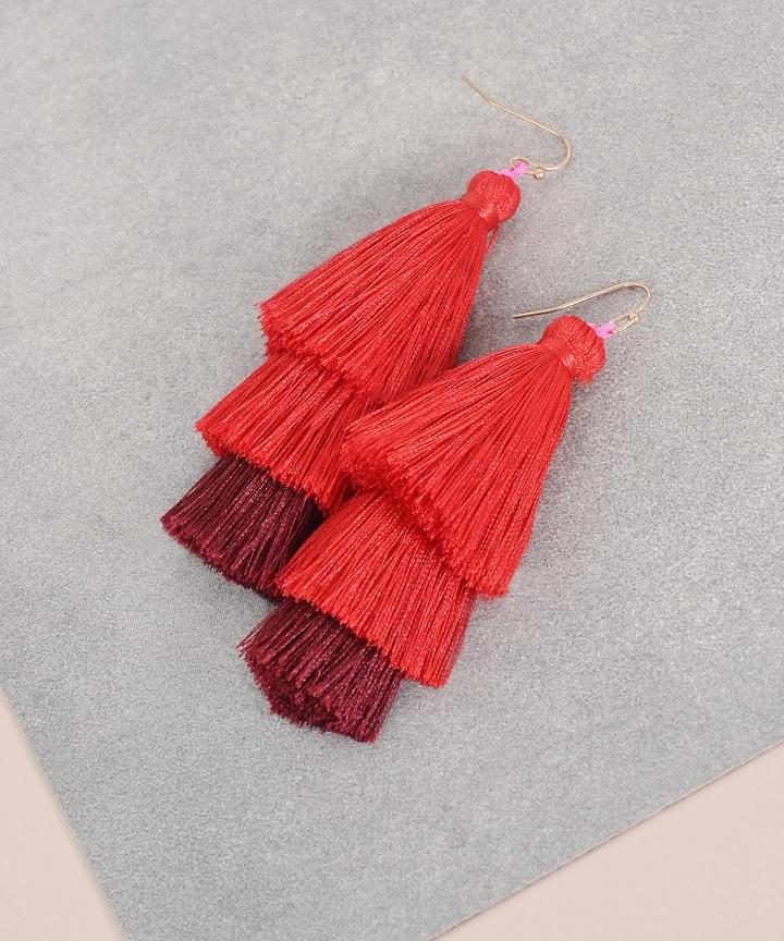 Festival Tiered Tassel Earrings