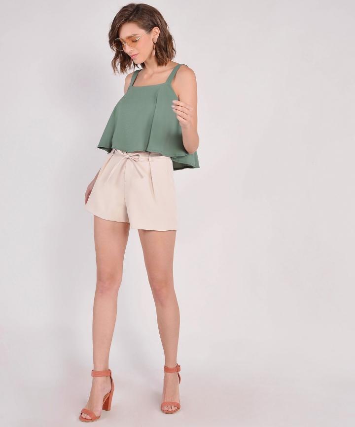 Zadie Tailored Shorts - Cream (Restock)