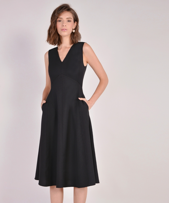Donna Midi Dress - Black