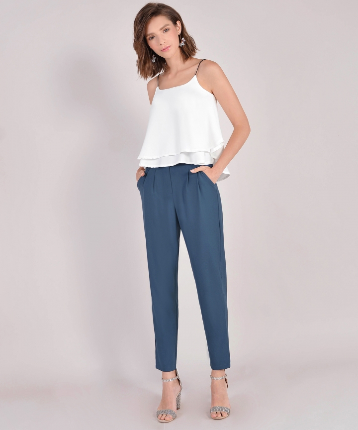 Brooks Tiered Top - White