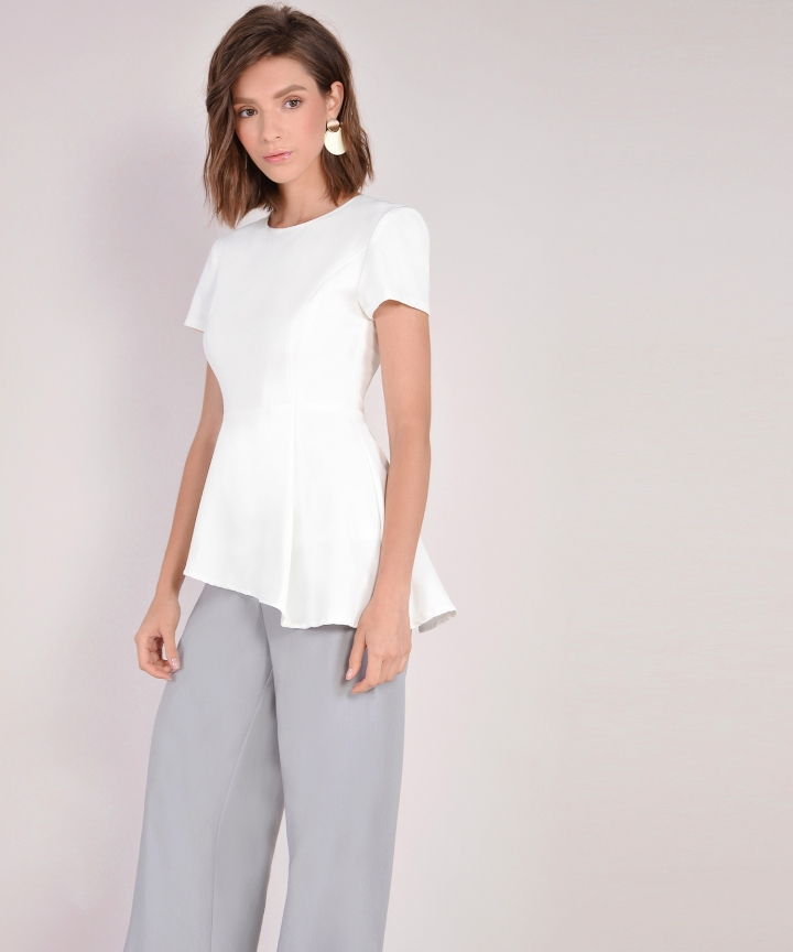 Bianca Asymmetrical Top - White