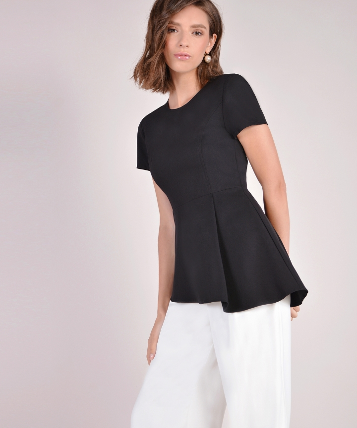 Bianca Asymmetrical Top - Black
