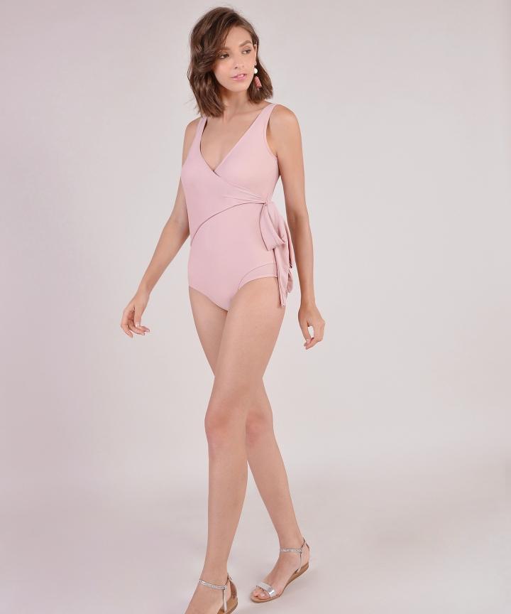 Dorothea Overlay Monokini - Pink