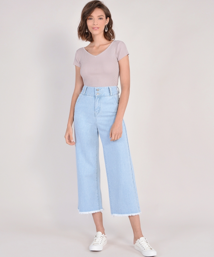 Devon Button-Down Culottes