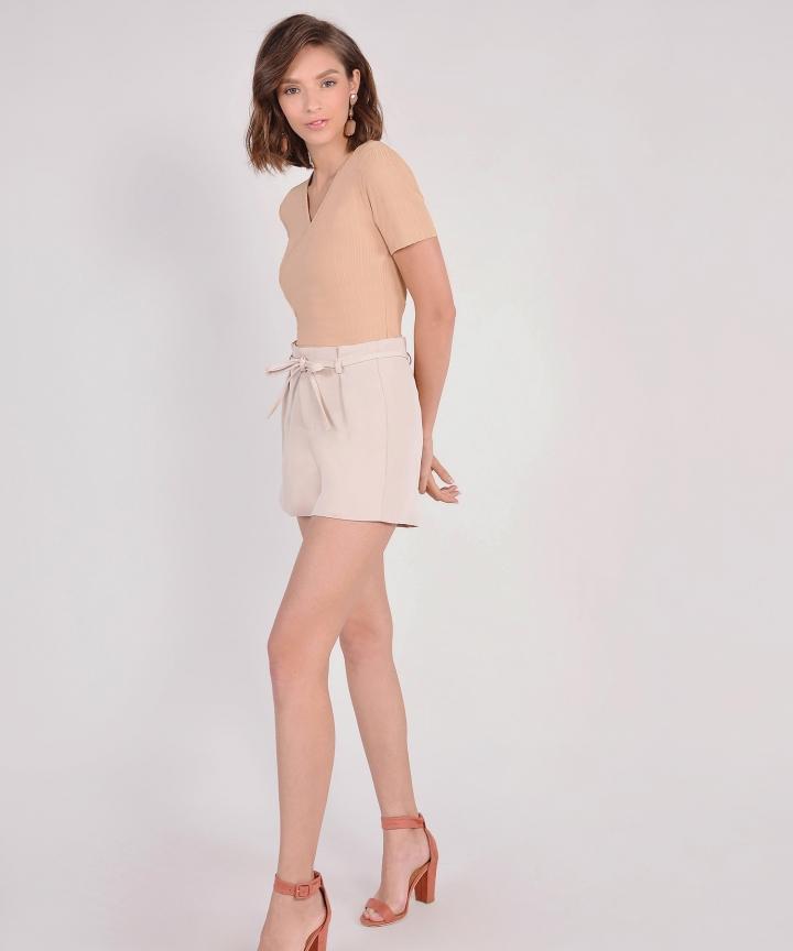 Abigail Overlay Top - Beige