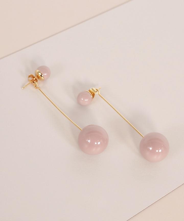Pendulum Drop Earrings - Nude
