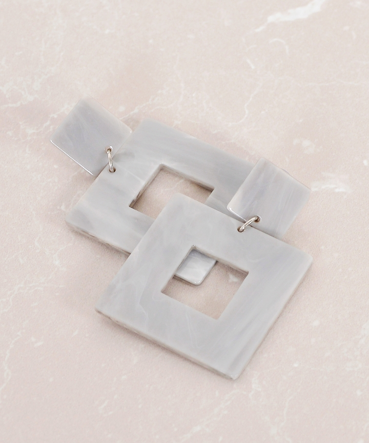 Pinnacle Square Earrings