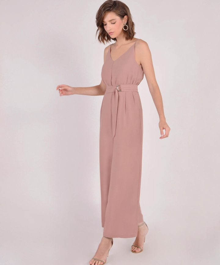 c651a0c0e0a Hera Belted Jumpsuit - Dusk Pink