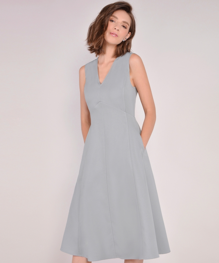 Donna Midi Dress - Blue Grey