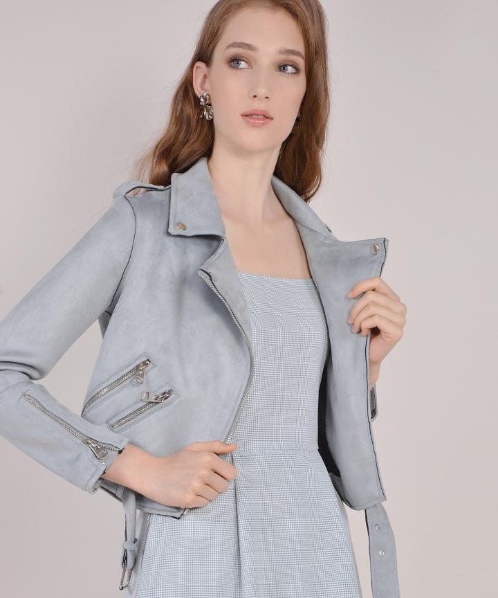 Harley Suede Jacket - Blue Grey (Backorder)
