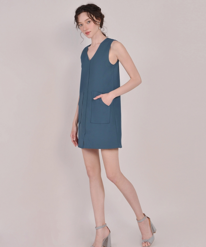 Melrose Shift Dress - Teal