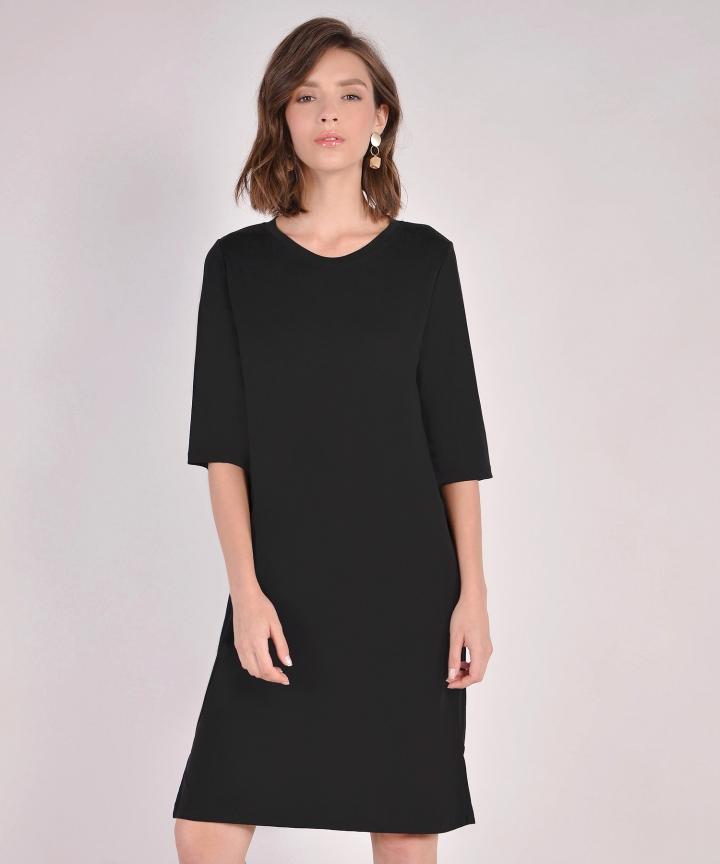 Riley Oversized T-Shirt Dress - Black