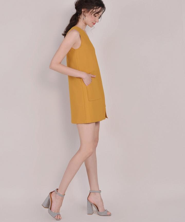Melrose Shift Dress - Mustard