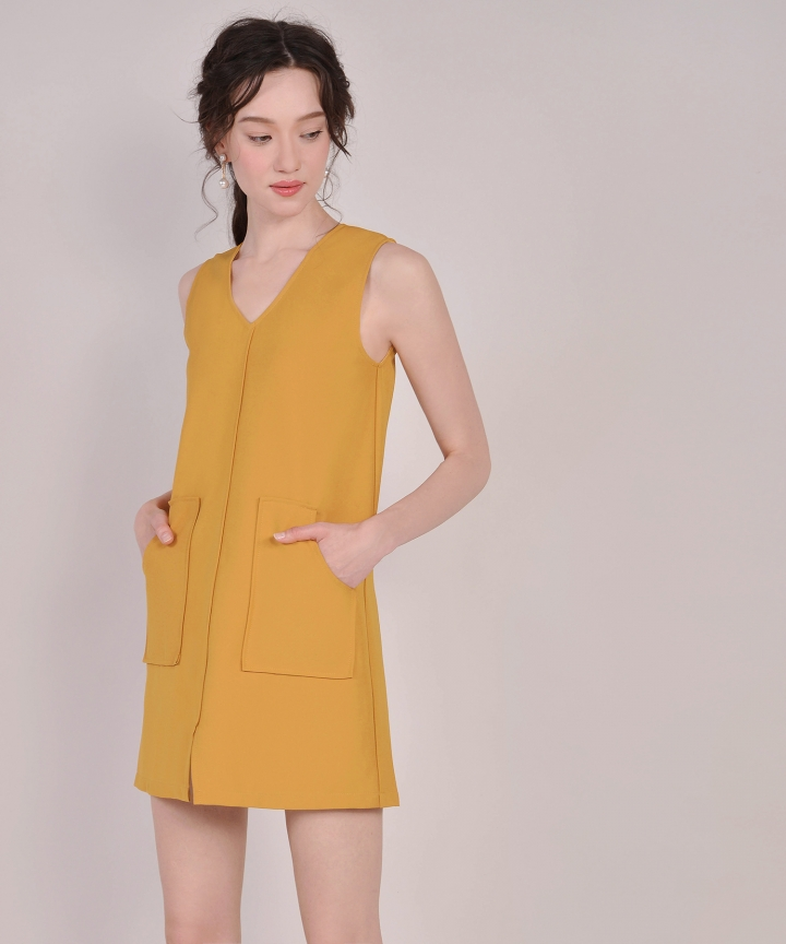 Melrose Shift Dress - Mustard