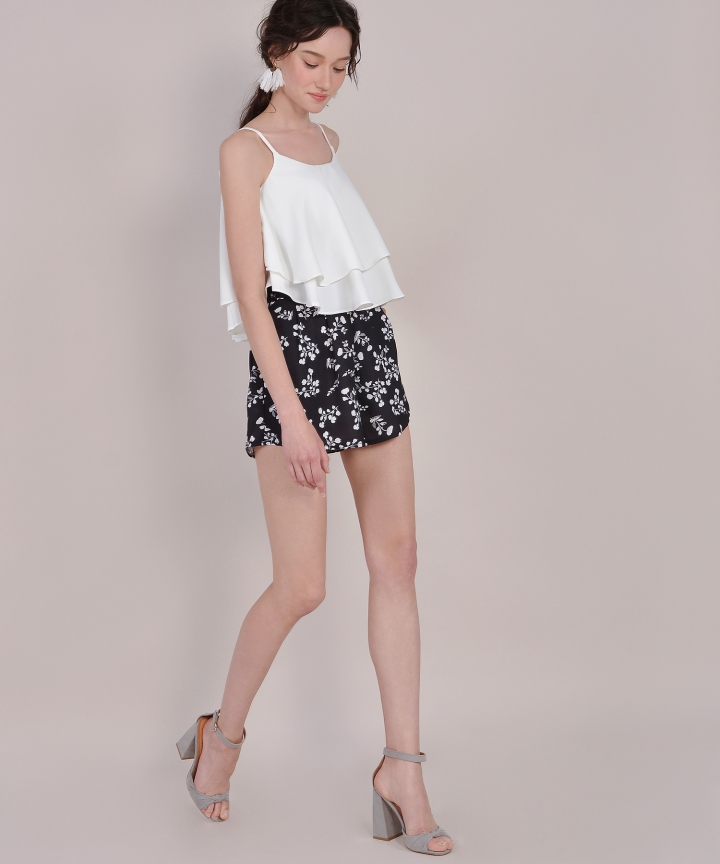 Brooklyn Tiered Top - White