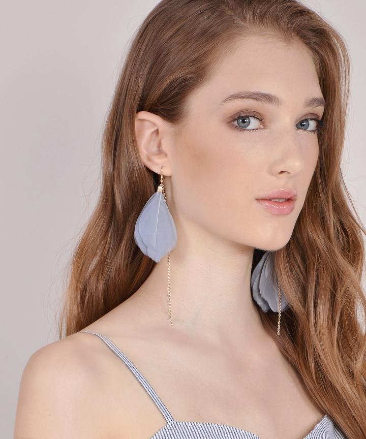 Lark Feather Earrings (Backorder)