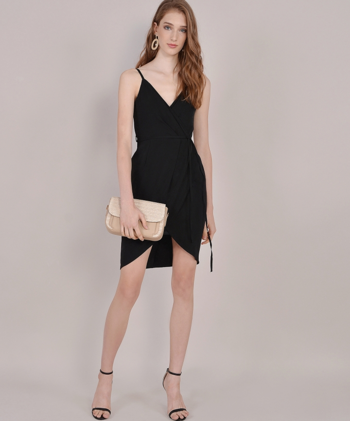Lisbon Tulip Dress - Black (Backorder)
