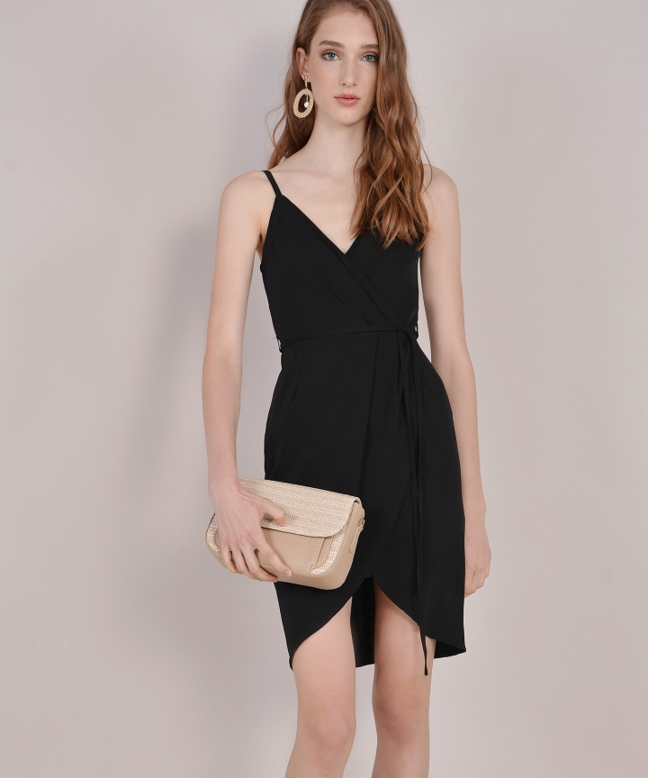 Lisbon Tulip Dress - Black (Backorder)