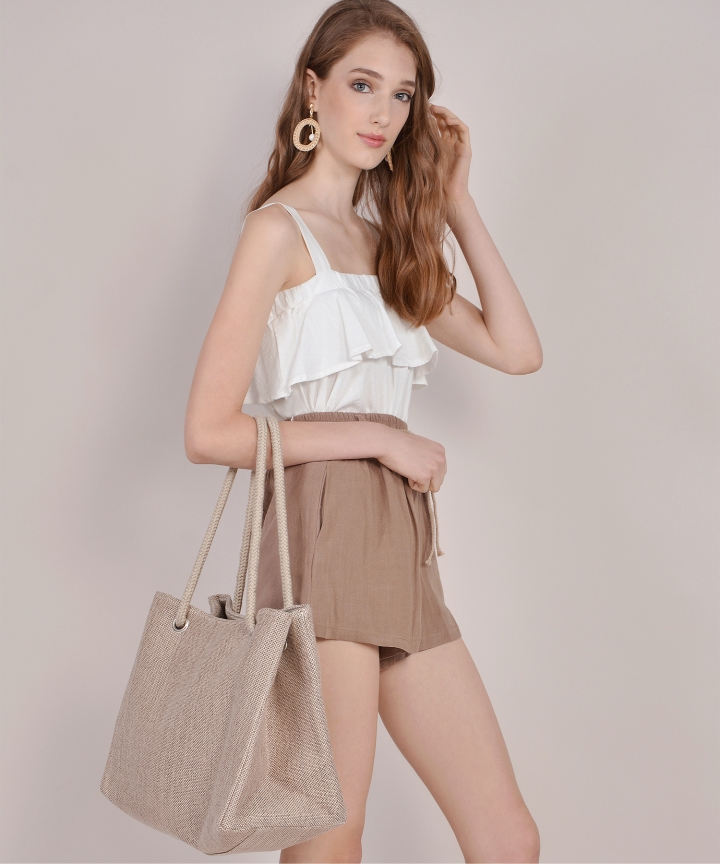 Tuscany Linen Shorts - Brown
