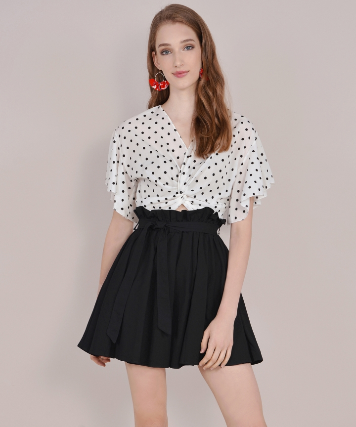 Molly Polka Dot Blouse - White
