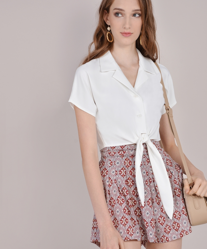Roxy Knot Blouse - White