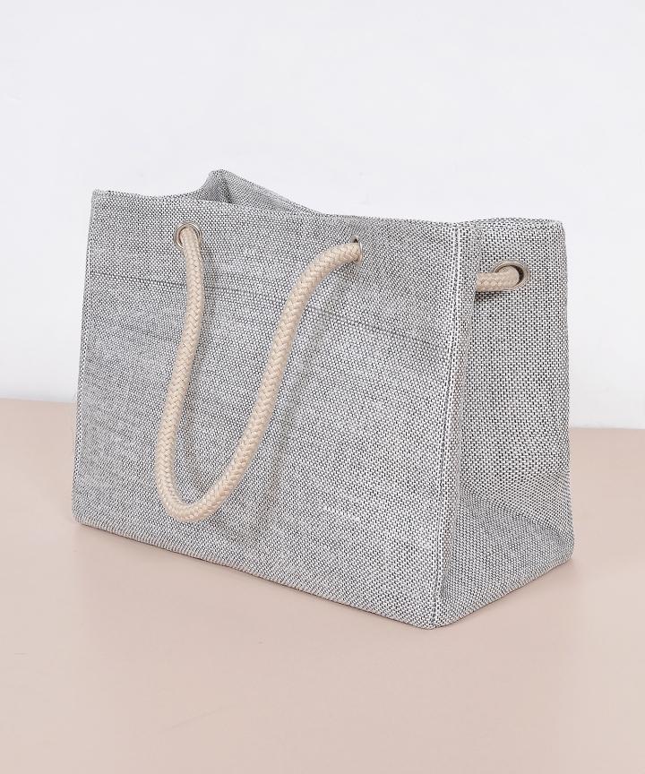 Naples Linen Tote - Grey