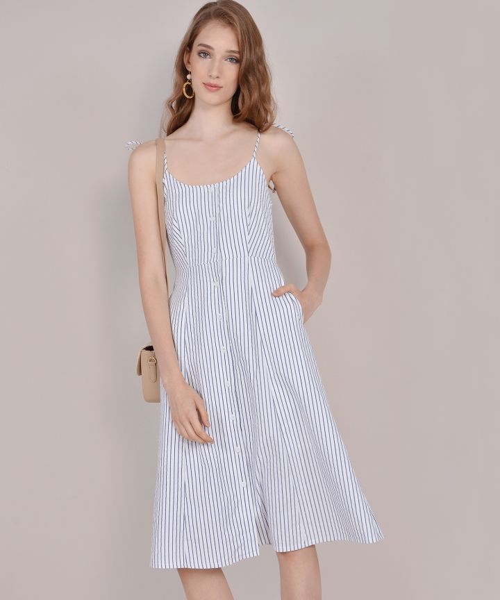 Imelda Striped Midi - Blue