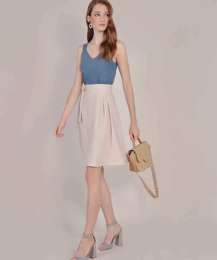 Prue Pastel Midi Skirt - Ecru