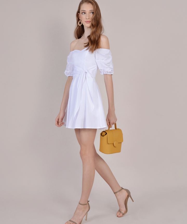 Cannes Off-Shoulder Playsuit - White
