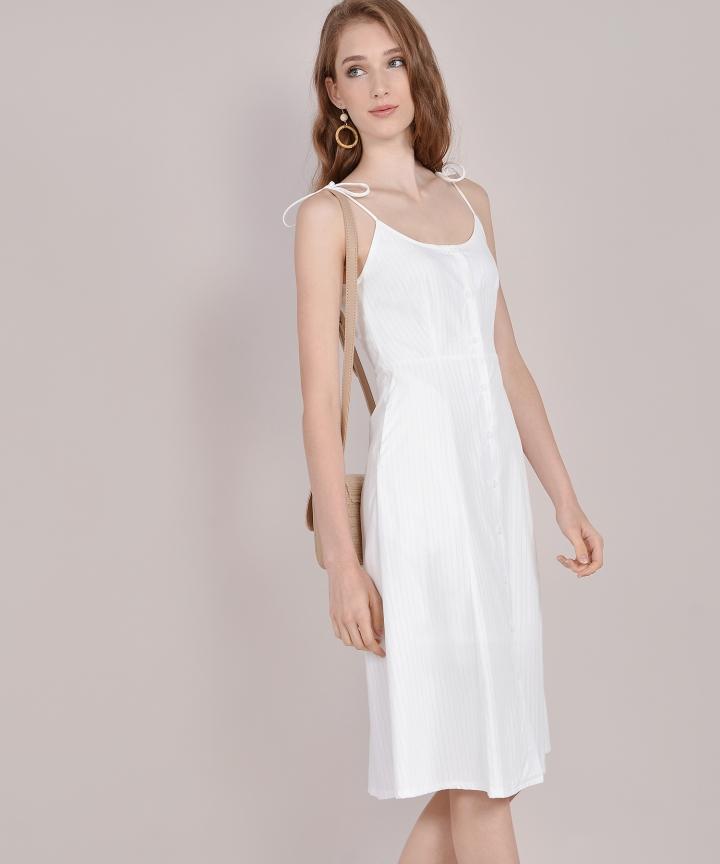 Imelda Striped Midi - White