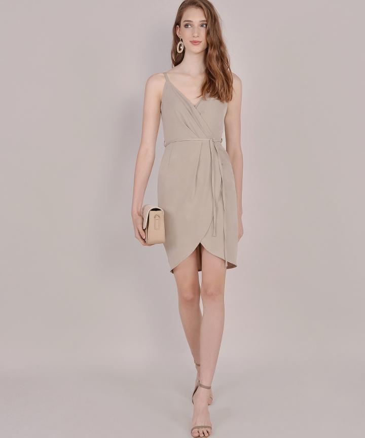 Lisbon Tulip Dress - Pale Olive