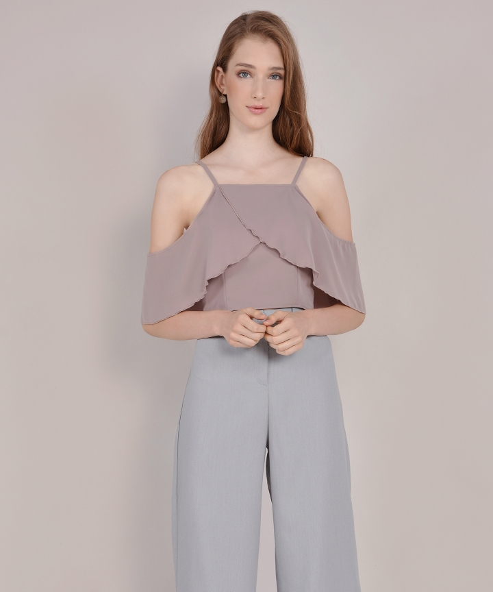Valentina Off-Shoulder Top - Pale Mauve