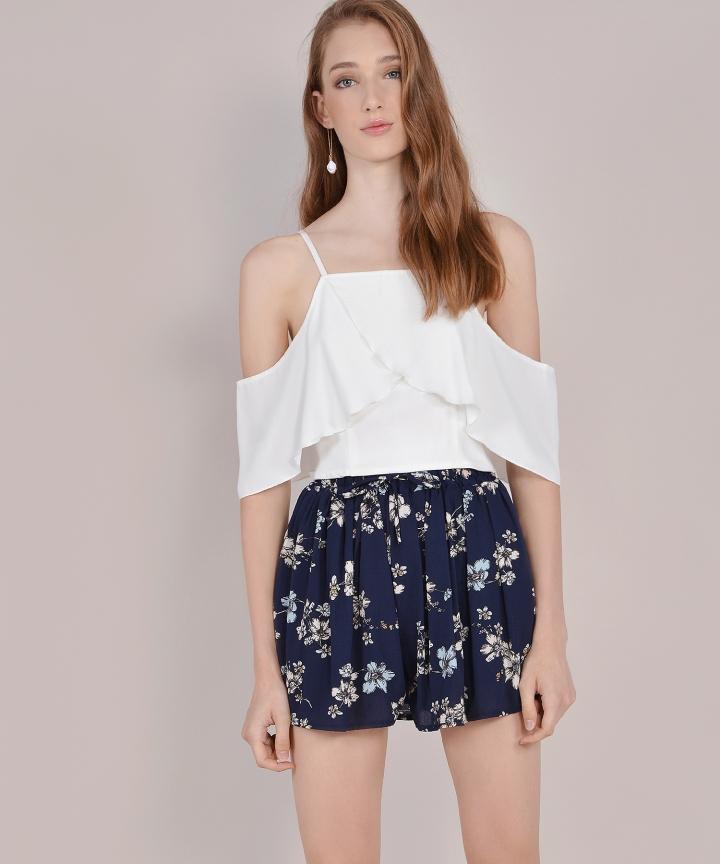 Petunia Floral Shorts - Navy