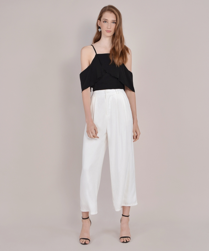 Valentina Off-Shoulder Top - Black