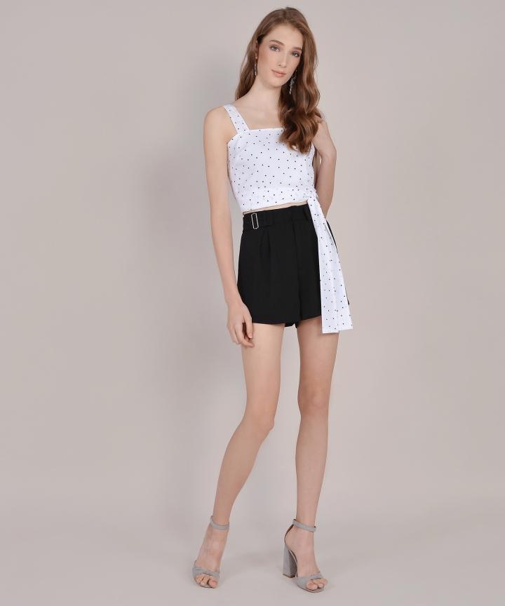 Viola Buckle Shorts - Black