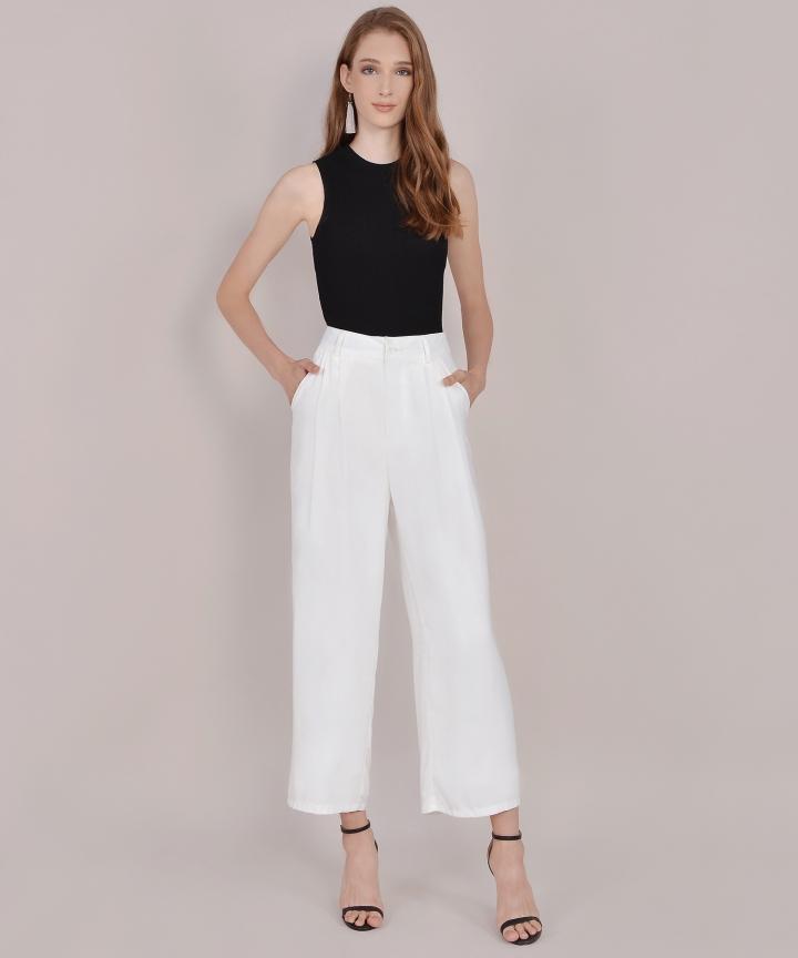 Adelaide Wide Leg Pants - White