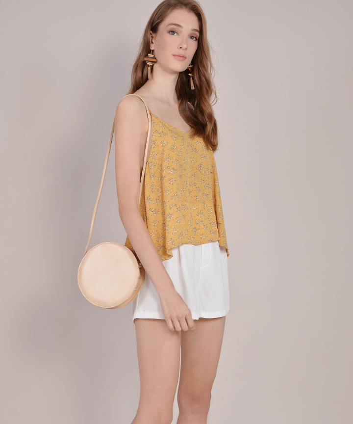 April Printed Top - Dandelion