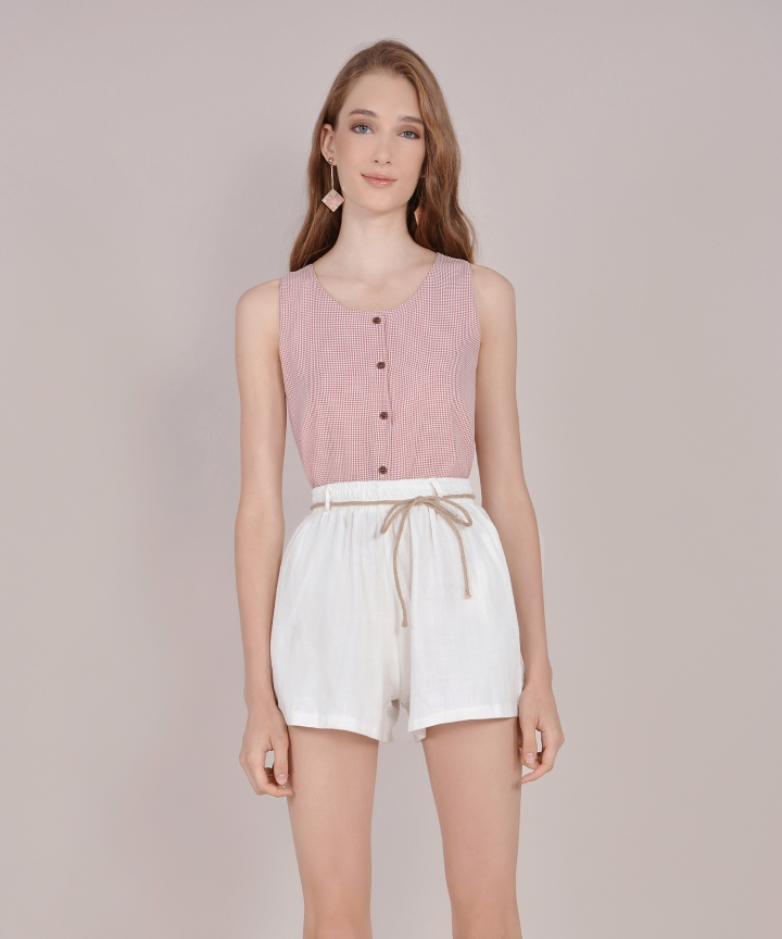 Tuscany Linen Shorts - White