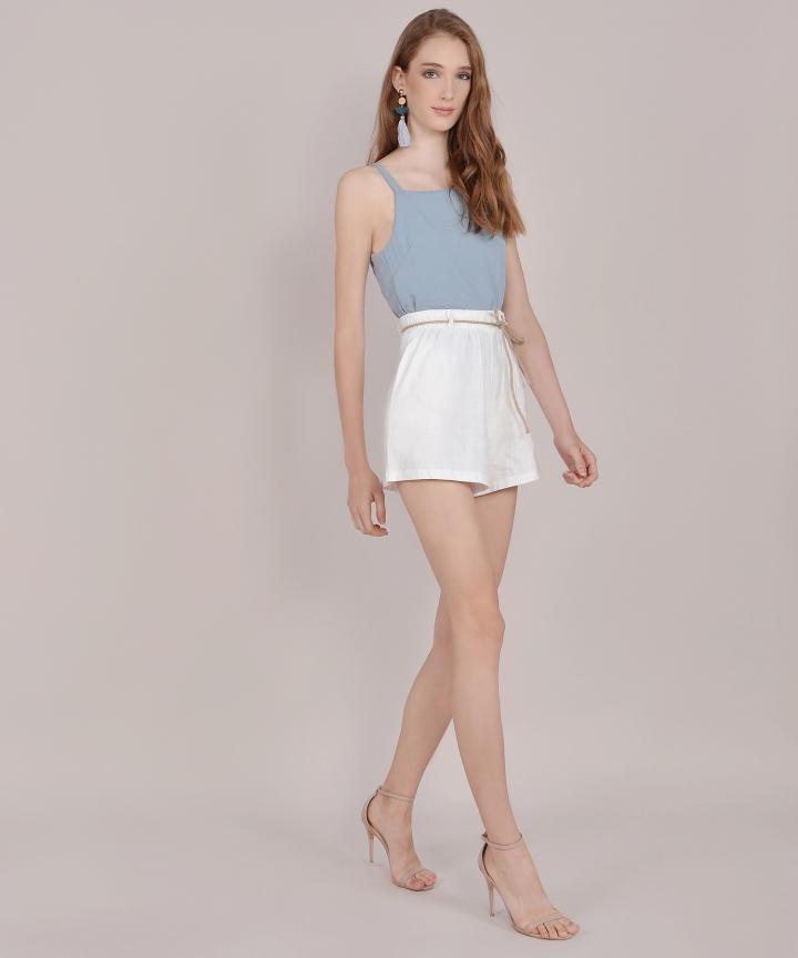 Hannah Basic Top - Mist Blue